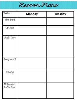 Lesson Plan Templates {Editable}