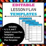 Lesson Plan Templates {Editable}