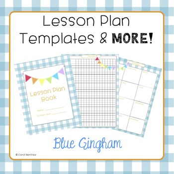 Lesson Plan Templates & More! {Blue Gingham with Pendants}