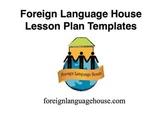 Lesson Plan Templates for Foreign Language Teachers