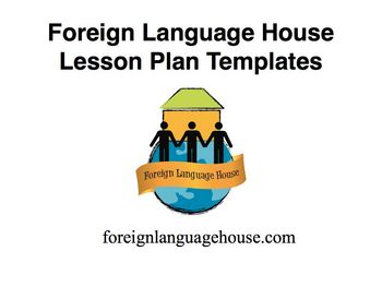 Lesson Plan Templates for Foreign Language Teachers