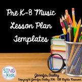 Lesson Plan Templates for the MLT Inspired Classroom