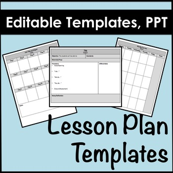 Lesson Plan Template Editable Weekly Small Group Teaching Resources