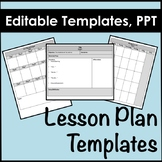 Lesson Plan Templates in Powerpoint, Editable