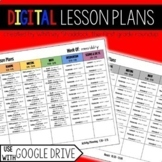 Digital Lesson Plan Template EDITABLE compatible with Google Drive
