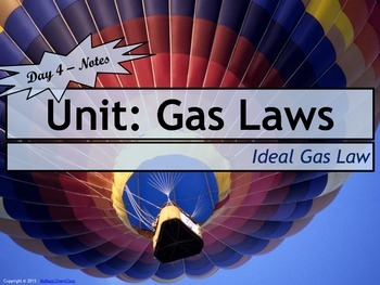 Lesson Plan: The Ideal Gas Law