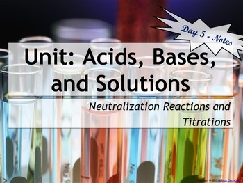 Lesson Plan: Titration Calculations