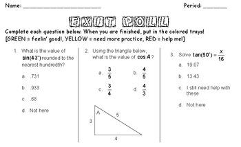 lesson plan trigonometric ratios sohcahtoa by miss lauren tpt. Black Bedroom Furniture Sets. Home Design Ideas