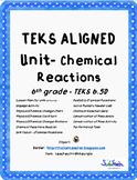 Lesson Plan Unit on Chemical Reactions TEKS 6.5D