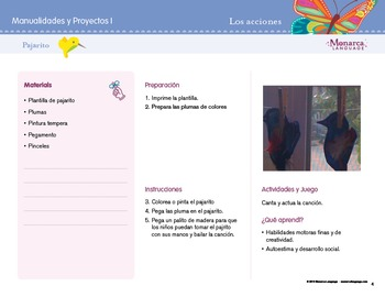 Lesson Plan: Verbs in Spanish/ Las acciones