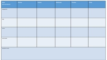 Lesson Plan Weekly Template FREEBIE