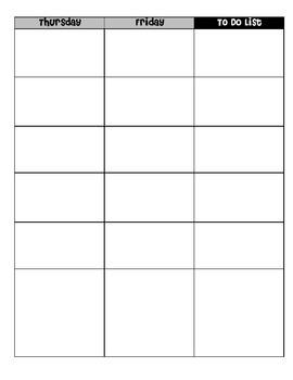 Lesson Plan Worksheets for Binder