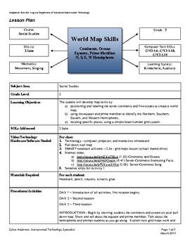 Lesson Plan - World Map Skills