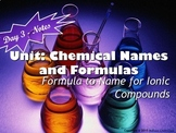 Lesson Plan: Writing Chemical Names for Ionic Compounds