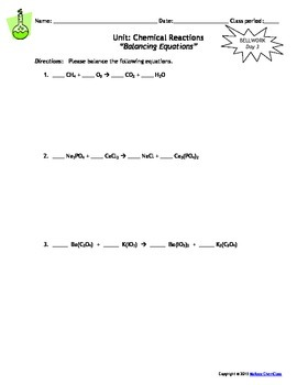 Lesson Plan: Writing Formula Equations from Word Equations and Balancing