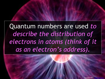 Lesson Plan: Writing Quantum Numbers for Electrons