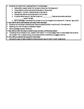 Lesson Plan about Working Skills