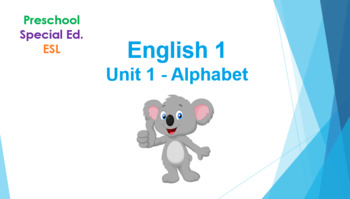 Lesson Plan and Alphabet Activities ( for ESL, Preschool, Special Education)