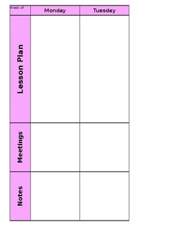 Lesson Plan and Gradebook template