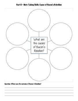 Lesson Plan and Handout - Bacons Rebellion
