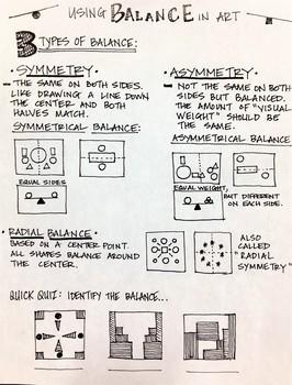 Lesson Plan and Printable Handout: Principle of Balance Composition Project
