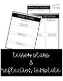 Lesson Plans and Reflection Template
