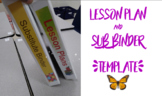 Lesson Plan and Sub Binder Editable Templates