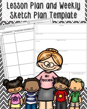 Lesson Plan and Weekly Sketch Plan FREEBIE
