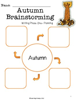 """Lesson Plan and Writing Project for """"I Know It's Autumn"""""""