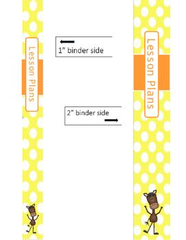Lesson Plan binder cover & sides