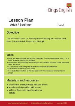 Lesson Plan bundle - Food