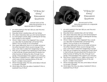 """Lesson Plan for """"A Rose for Emily"""" by William Faulkner"""