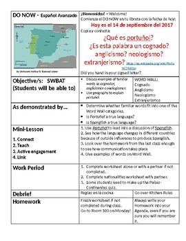 Lesson Plan for Advanced Spanish