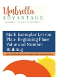 Lesson Plan for Beginning Place Value and Number Building
