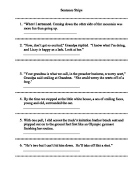 Lesson Plan for Figurative Language in Call Me Lizzy