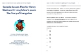 Lesson Plan for Henry Wadsworth Longfellow's poem The Story of Evangeline