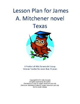 Lesson Plan for James A. Mitchener novel Texas