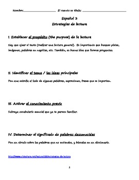Lesson Plan for Reading in Spanish- Ghost Stories (Cuentos de miedo)