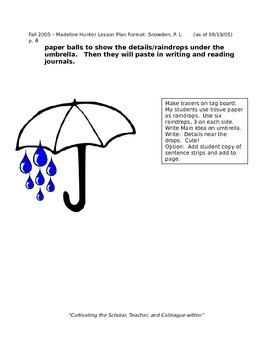 Lesson Plan for Teacher Evaluation Main Ideas and Details