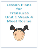 Treasures Lesson Plans for Unit 1 Week 4- Meet Rosina