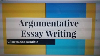 Lesson Plan for Writing an Argumentative Essay