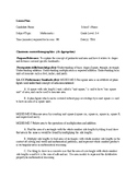 Lesson Plan for area and perimeter 4th grade