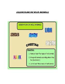 Lesson Plan on Wild Animals