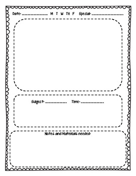 Lesson Plan pages for Kinder teachers