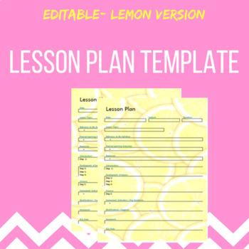 Lesson Plan template- Lemon theme