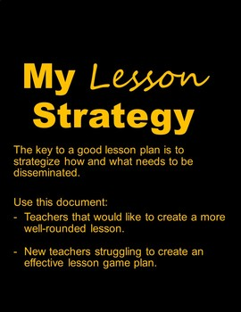 Lesson Plan w/Instructions
