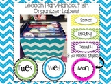Lesson Plan/Handout Bin Organizer Labels