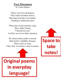 Lesson Plan:Poetry, Analysis and Creation CCSS.ELA-LITERACY.RL.8.10