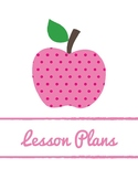 Lesson Planbook Cover Page