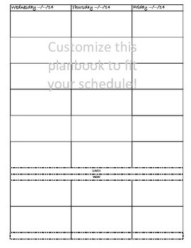 Lesson Planbook Template (editable)